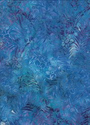 Anthology Art Inspired Collection Hand Made Batik -Blue Floral