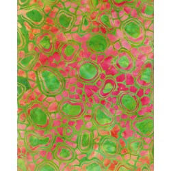 Anthology Hand Made Batik - Greens and Reds-Fashion Rayon Collection