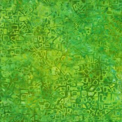 "End of Bolt - 75"" - Anthology Hand Made Batik - Green Geo"