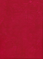 Anthology Art Inspired Collection Hand Made Batik -Red Swirl