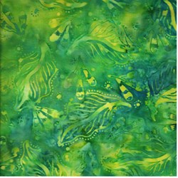 Anthology Hand Made Batik - Green Leaves