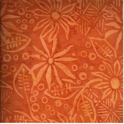 Anthology Hand Made Batik - Tan/Gold  Floral