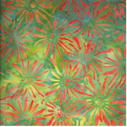 Anthology Hand Made Batik -Green Multi Flower