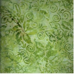 "22"" Remnant - Anthology Hand Made Batik - Green Print"