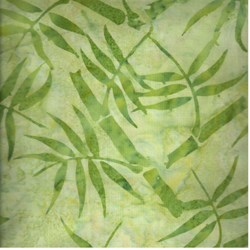 "9"" Remnant - Anthology Hand Made Batik - Green Fern"