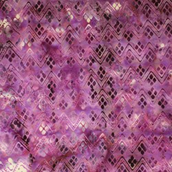Anthology Hand Made Batik - Purple ZigZag
