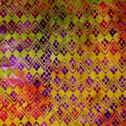 Anthology Hand Made Batik - Multi Color ZigZag