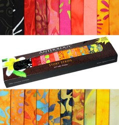 Anthology Batik Story Strips - Tropical Flowers