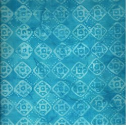 Anthology Blue Batik - Geometric Squares