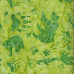 Anthology Batiks - The Plains People of Turtle Island - Bear Print on Green