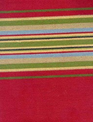Blackbird Designs Moda Twill - Fat Quarter -Aunt Luci's cottage - Large Berry Stripe