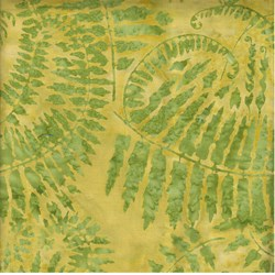 "End of Bolt - 106"" - - Island Batik - Green Fern"