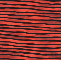 Provence Orange/Black Wavy stripe by Blank Fabrics