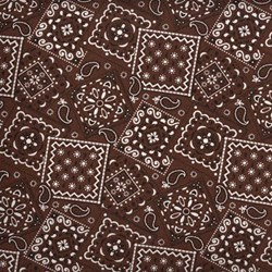 Blazin' Bandanas in Chocolate Brown