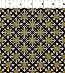 "End of Bolt-  47"" - Celestial Collection -  Black Star Medallion - by In the Beginning Fabrics"