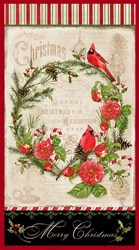Christmas in the Wildwood- Panel n  by Nancy Mink
