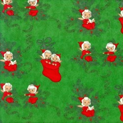 Elves on Green Flannel - Christmas Kitsch By Chloe's Closet