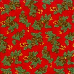 Pine Boughs on Red Flannel - Christmas Kitsch By Chloe's Closet