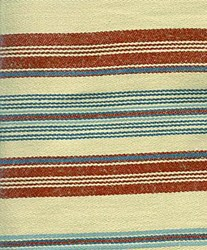 Barbara Brackman Moda Twill - Fat Quarter -Conestoga Calico - Tan/Red with Blue