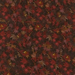 "34"" Remnant - Danscapes - Leaf Burgundy - by Dan Morris for RJR Fabrics"