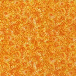 Danscapes - Spring Symphony Orange - by Dan Morris for RJR Fabrics
