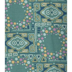 Multi Color Pattern on Turquoise - Lady Sybil - Downton Abbey Collection by Andover Fabrics