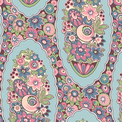 Pink Floral Print - Lady Edith - Downton Abbey Collection by Andover Fabrics
