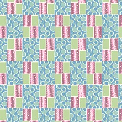 Green Pattern Print - Lady Edith - Downton Abbey Collection by Andover Fabrics