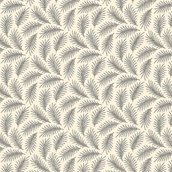 "End of Bolt - 36"" - Feathers Print on Cream - Womens Collection - Downton Abbey by Andover Fabrics"