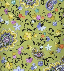 "End of Bolt - 85"" - Honey Green Print - 5 Yard Backing Fabric by EBI Fabrics"