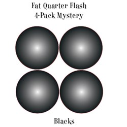 Vintage Fat Quarters- Circa  2012!  Blacks - Fat Quarter Flash 4-Pack Mystery