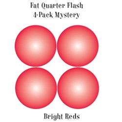 Vintage Fat Quarters- Circa  2012! Bright Reds - Fat Quarter Flash 4-Pack Mystery