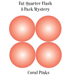 Coral Pinks - Fat Quarter Flash 4-Pack Mystery