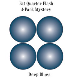 Deep Blues- Fat Quarter Flash 4-Pack Mystery