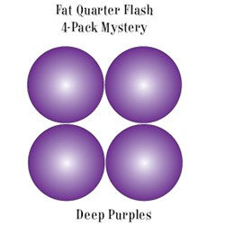 Deep Purples- Fat Quarter Flash 4-Pack Mystery