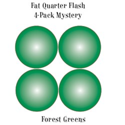 Forest Greens- Fat Quarter Flash 4-Pack Mystery