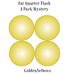 Vintage Fat Quarters- Circa  2012! Golden Yellows- Fat Quarter Flash 4-Pack Mystery