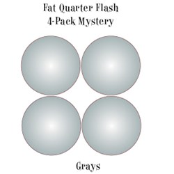 Vintage Fat Quarters- Circa  2012! Grays - Fat Quarter Flash 4-Pack Mystery