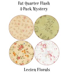 Lecien Floral Miscellaneous - Fat Quarter Flash 4-Pack Mystery
