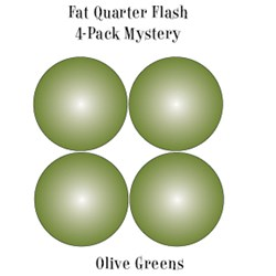 Vintage Fat Quarters- Circa  2012! Olive Greens - Fat Quarter Flash 4-Pack Mystery