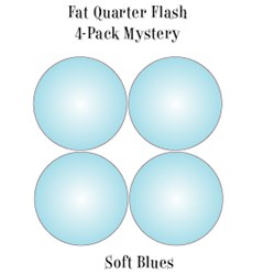 Vintage Fat Quarters- Circa  2012! Soft Blues - Fat Quarter Flash 4-Pack Mystery