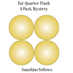 Vintage Fat Quarters- Circa  2012! Sunshine Yellows- Fat Quarter Flash 4-Pack Mystery