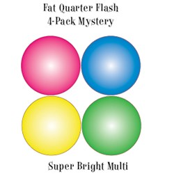 Vintage Fat Quarters- Circa  2012! Super Bright Multi - Fat Quarter Flash 4-Pack Mystery