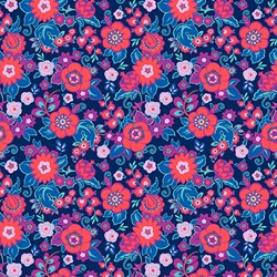 Soul Mate - Grand Bouquet - Cherry - by Amy Butler for Free Spirit Fabrics