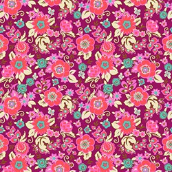Soul Mate - Grand Bouquet - Plum - by Amy Butler for Free Spirit Fabrics