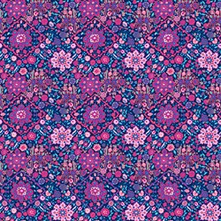 Soul Mate - Kaliedescope - Navy - by Amy Butler for Free Spirit Fabrics