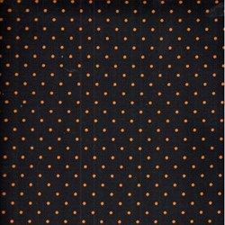 Jeepers Creepers - Orange Dots on Black - Henry Glass & Co.