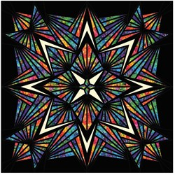 Crystal Stained Glass Prism Batik Queen  Laser Pre-Cut Kit - Plus, Optional Swarovsky Hot Fix Crystals!