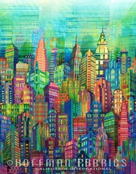 "15"" Remnant Piece - Skyline Digital Print by Hoffman"