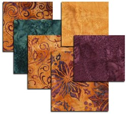 Hoffman Royal Golden Batik Fat Quarter Bundle